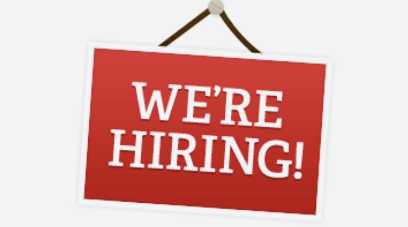 Now hiring for Communications Officer and Street Laborer.