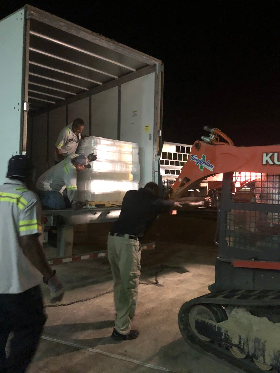 You can never be too prepared! Our parish employees were hard at work last night. 💪🏼Here is an action shot of supplies being loaded in preparation for use at the shelters. #HurricanePrep