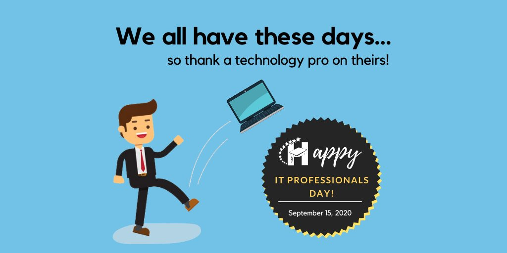 Happy National IT Professionals Day!  Today we give a special shout out to all of our Technology Services staff. Since March, they have spent countless hours navigating our district through distance learning.  We appreciate our team and all they do to support our education.