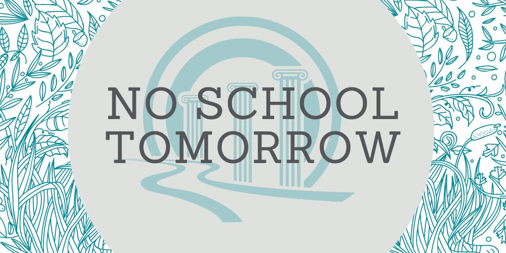 Don't forget students will have no school tomorrow for professional development! Check the academic calendar for all future school closures and early out dates:  #WEareSJSD #SJSDB2S