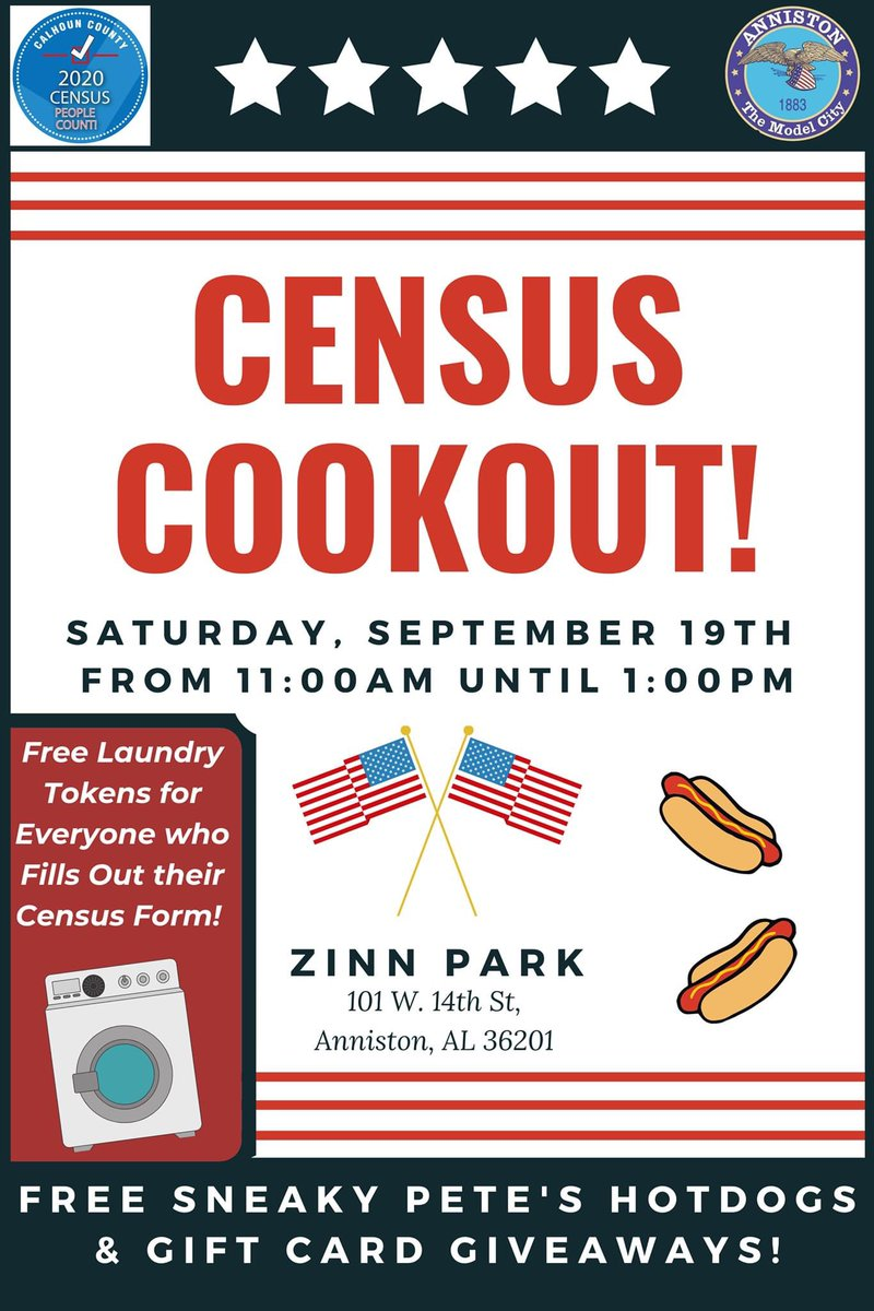 #PSA: Census Cookout - Laundry Coin Giveaway _____________________________________  Thanks to a generous donation, all those who complete their Census this Saturday at our 2020 Census Cookout event, will receive free #Laundry Coins, good for use at Washin' Coin Laundry! 🧺