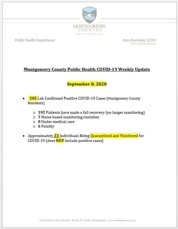 Weekly #COVID19 update.  #MontgomeryCounty