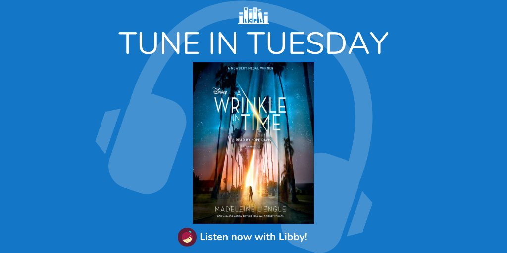 This week, tune in to Madeleine L'Engle's novel, A WRINKLE IN TIME. Check it out or place a hold here: