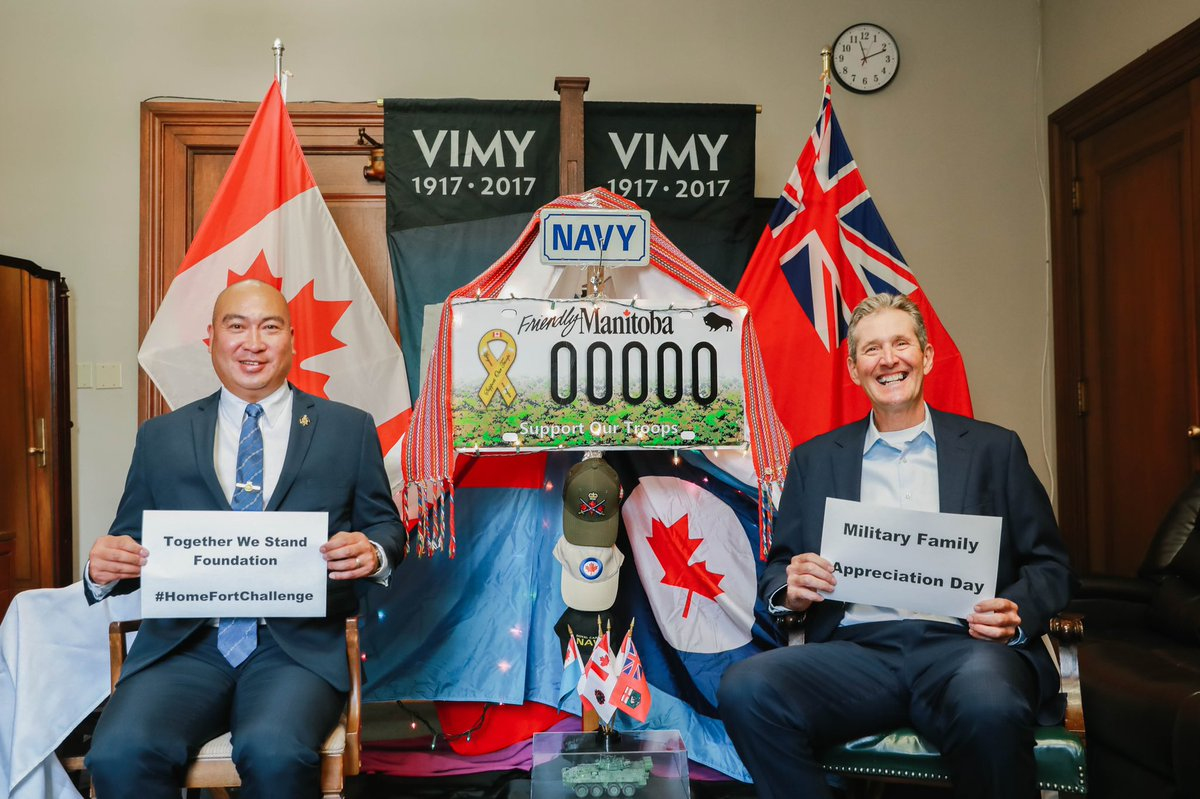 test Twitter Media - Honoured to extend my thanks and appreciation of our @CanadianForces & Military Families by participating in @TWSFoundationCA #HomeFortChallenge with Premier @BrianPallister. #TWS 2nd Annual Military Family Appreciation Day September 18. I challenge @JamesTeitsma & @ShawnNason! https://t.co/XHi6ZAZW0V