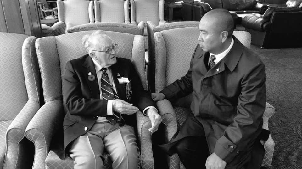 """test Twitter Media - I would normally see """"soon to be 102 years old"""" #BattleofBritain veteran Flying Officer (Ret'd) Ralph Wild at a #BattleofBritainDay ceremony but not this year for obvious reasons. Once again I say """"Thank you for your service sir."""" #BattleOfBritain80 🇬🇧🇨🇦 https://t.co/UbuN201oun"""