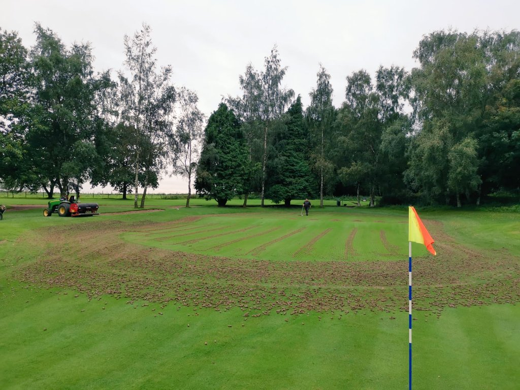 test Twitter Media - The team are still busy with coring of approaches and greens this week.  @IngestreParkGC @andyb381 @AgrovistaAMNTY https://t.co/U238KlretX
