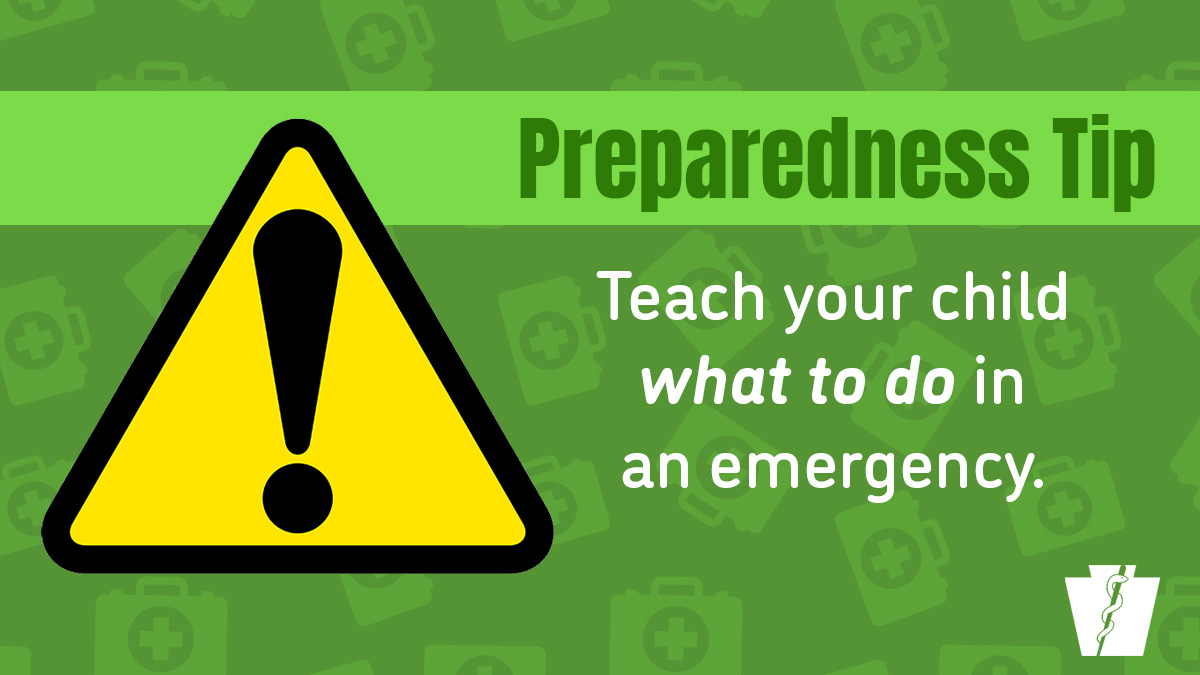 Help your family #BeReady for a disaster by teaching your child how to communicate during an emergency. Review these topics, esp with younger children: 💬 sending text messages ☎️ emergency contact numbers  📱 dialing 9-1-1 for help  #NatlPrep