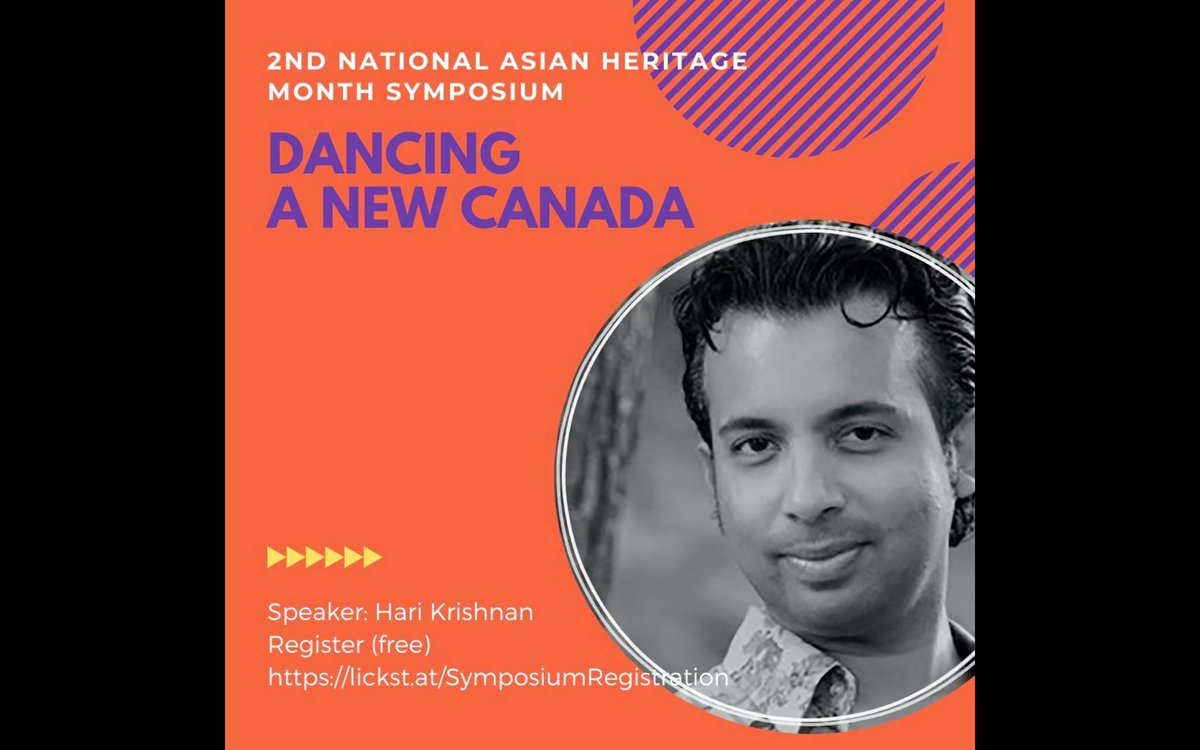 """test Twitter Media - Attend """"Dancing a new Canada: Personal Choreographic Ruminations"""", a talk by Hari Krishnan, at the 2nd National Asian. Fri, Sept 11, 2pm ET Krishan is the author of """"Celluloid Classicism: Early Tamil Cinema and the Making of Modern Bharatanatyam"""" https://t.co/nT2K31Hwor https://t.co/ZsvGRGiYXb"""
