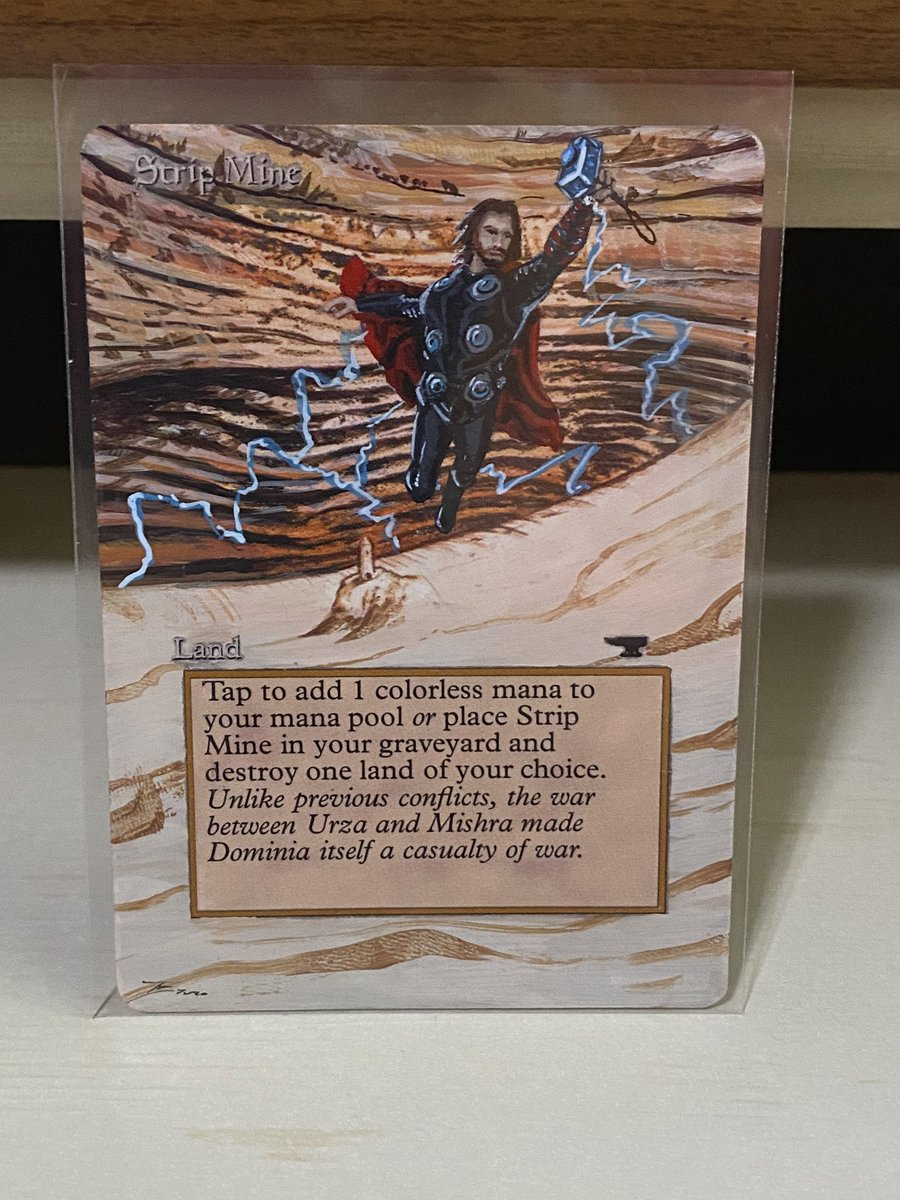 test Twitter Media - Got a play set of Strip Mine alters in today. Took 6 months to get them but they look great. https://t.co/4aycUgMKmA