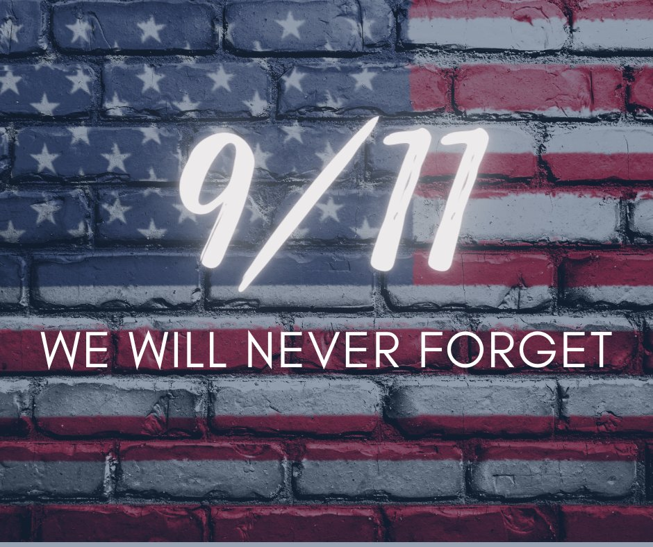 Today marks 19 years since the terrorist attacks on September 11, 2001.  We will never forget.
