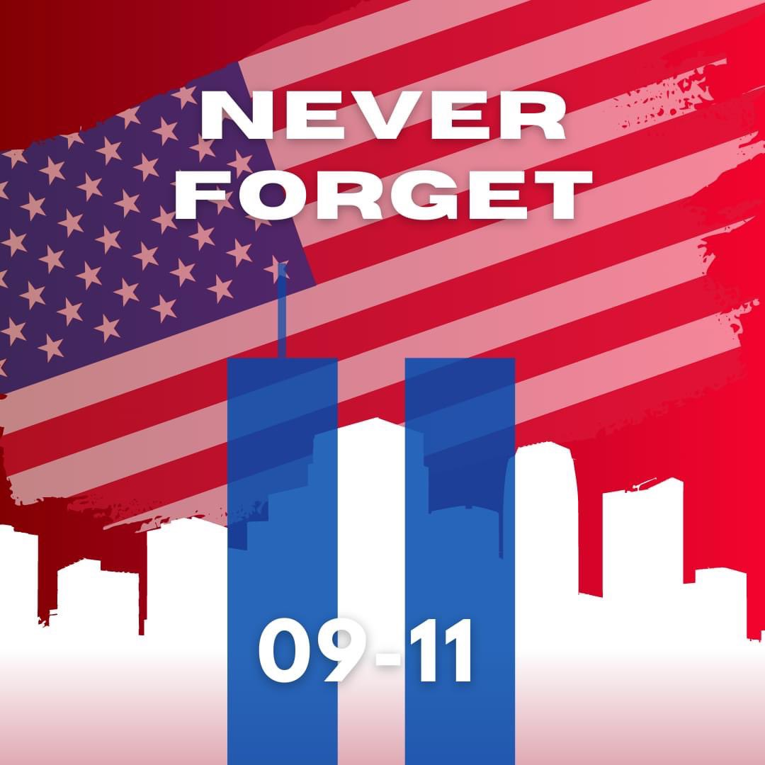 Today marks the 19th anniversary of September 11th, 2001 when almost 3000 people lost their lives. May we never forgot those families who were affected by this day.