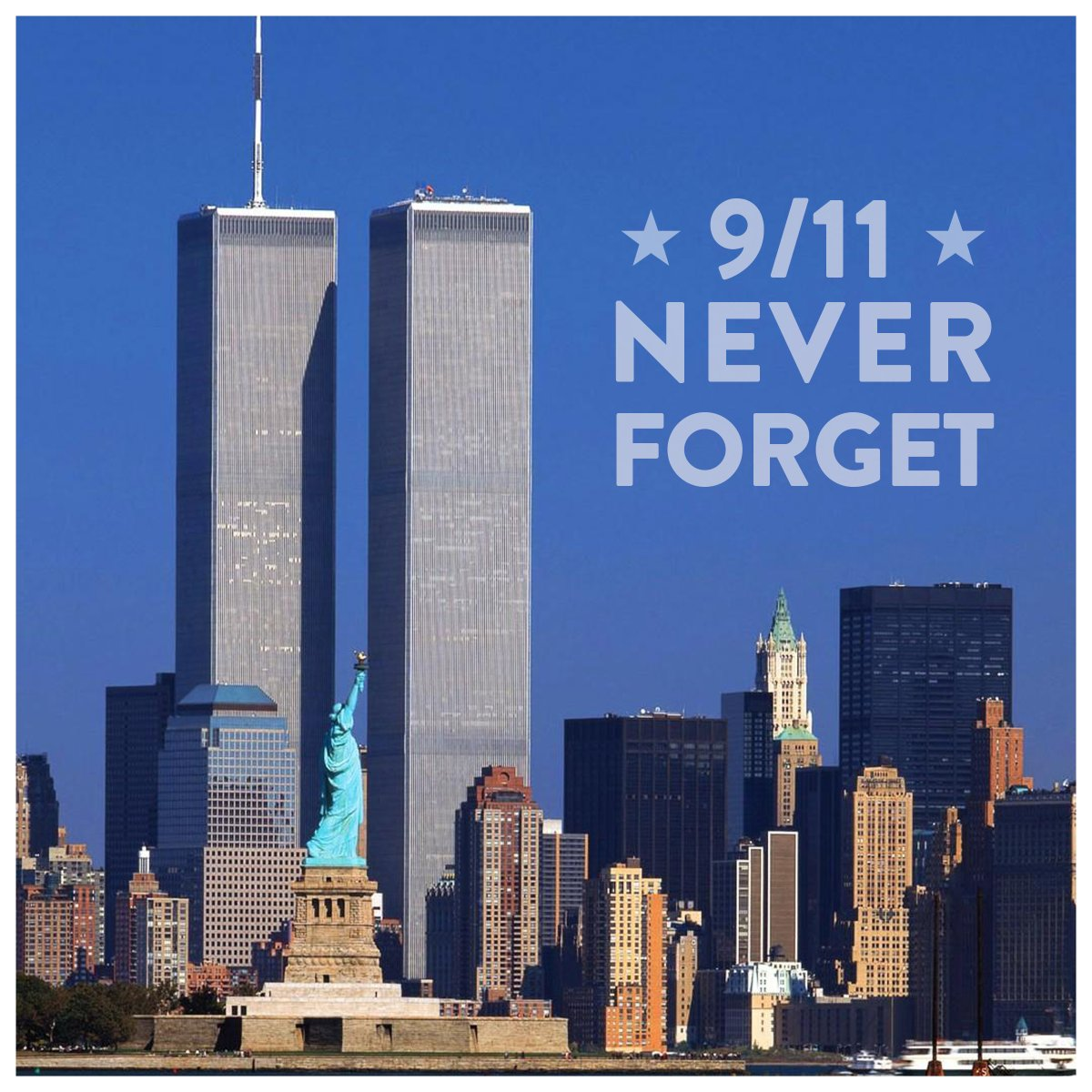 Remembering and honoring those we lost 19 years ago today. #NeverForget