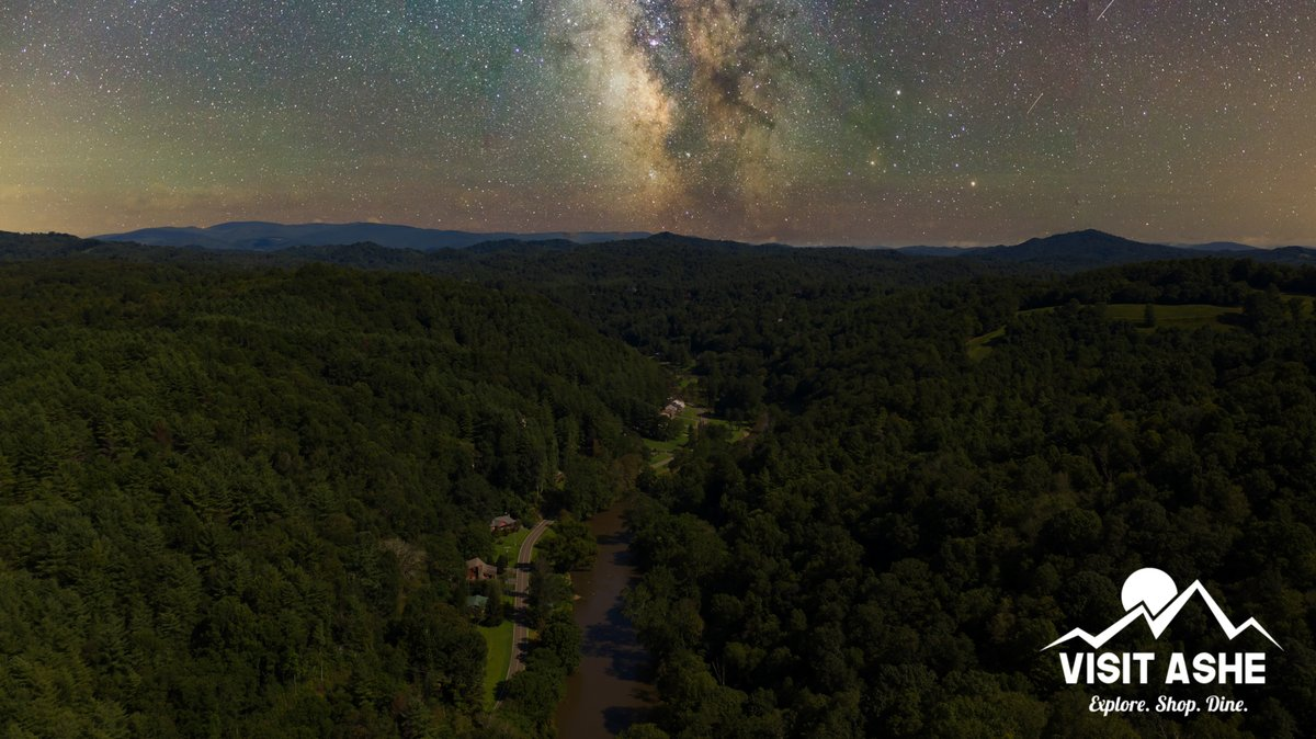 The stars are a little brighter in Ashe County, NC! 😍   #ashecountync #weekendgetaway #visitashe #thecoolestcornerofnc #blueridgeparkway #blueridgemoments #blueridgemountains #beautifulplace #fishashe #fishing #newriver #hiking #camping #ncmountains