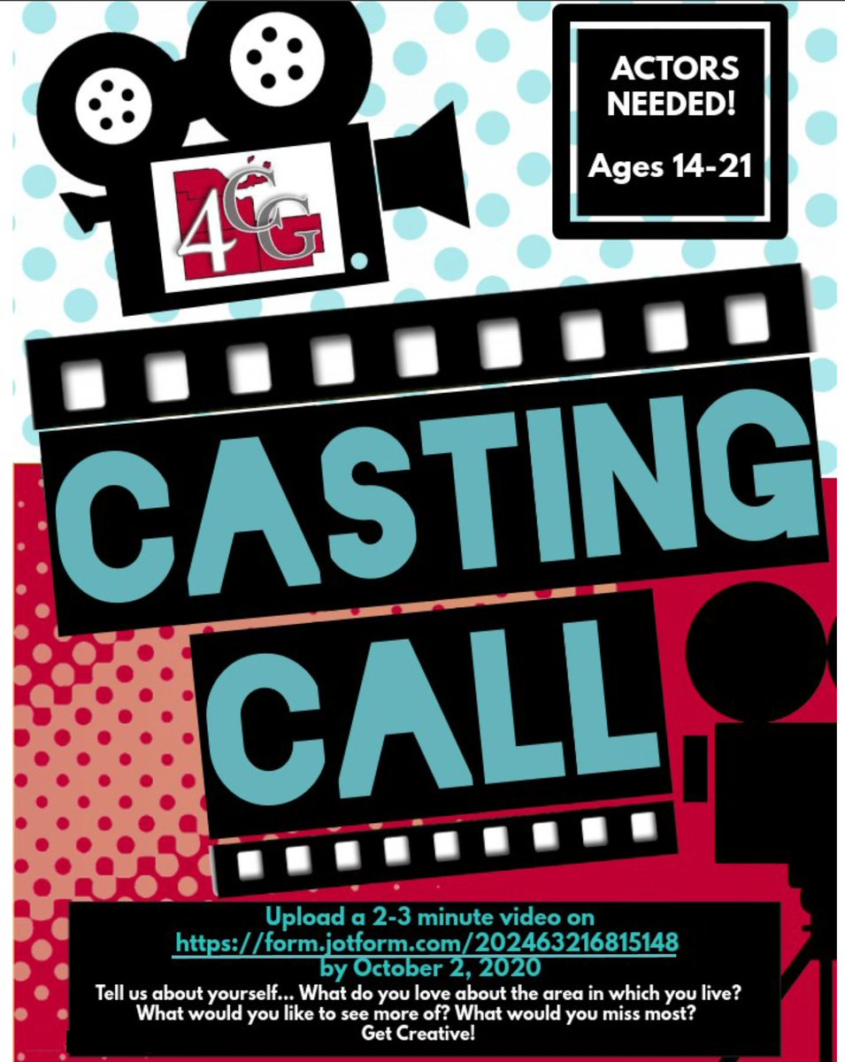 Casting Call for Youth 14-21 in Huron County, Ohio!  Let's market our region with our local youth!