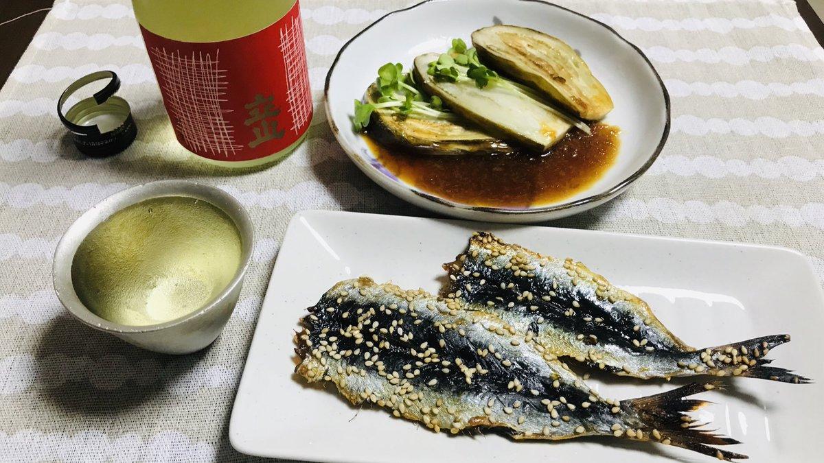test ツイッターメディア - 久しぶりに日本酒✨ 白ナスのステーキ美味しい♡  #晩ごはん #みりん干し #ナスのステーキ #日本酒 #立山 https://t.co/ezbbcLAgHy