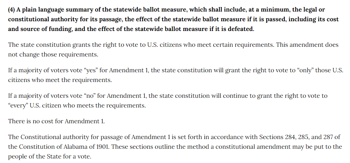 test Twitter Media - Thread on proposed amendments to the #Alabama Constitution. These are my opinions only, not those of the membership of ARRA. https://t.co/dFbWmscpev  I will vote NO on #1 because it is redundant and unnecessary. https://t.co/h4z3MisjHE