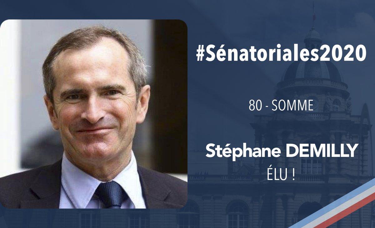 RT @UC_Senat: #Sénatoriales2020   Félicitations à Stéphane Demilly, élu dans la Somme !