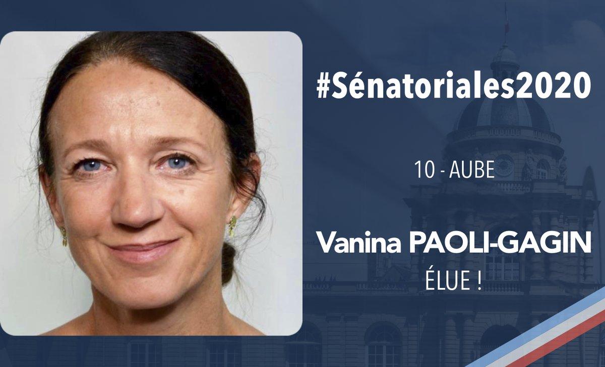 RT @UC_Senat: #Sénatoriales2020   Félicitations à @GaginPaoli, élue dans l'Aube !