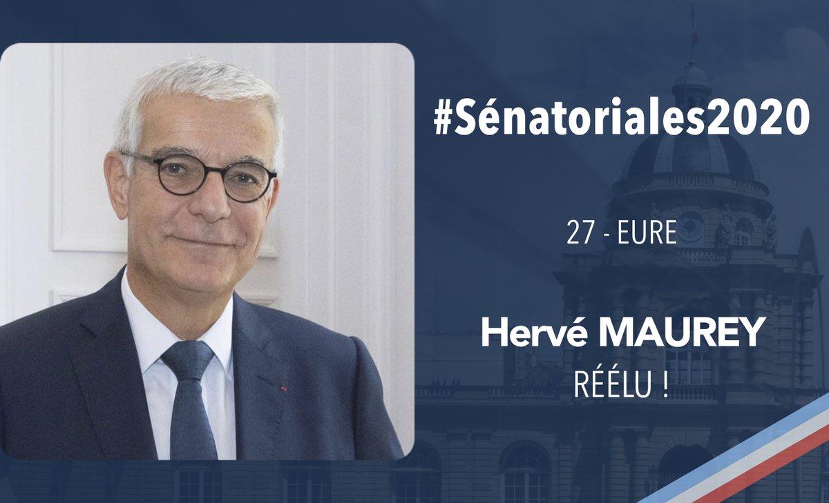 RT @UC_Senat: #Sénatoriales2020   Félicitations à @HMaurey, réélu dans l'Eure !