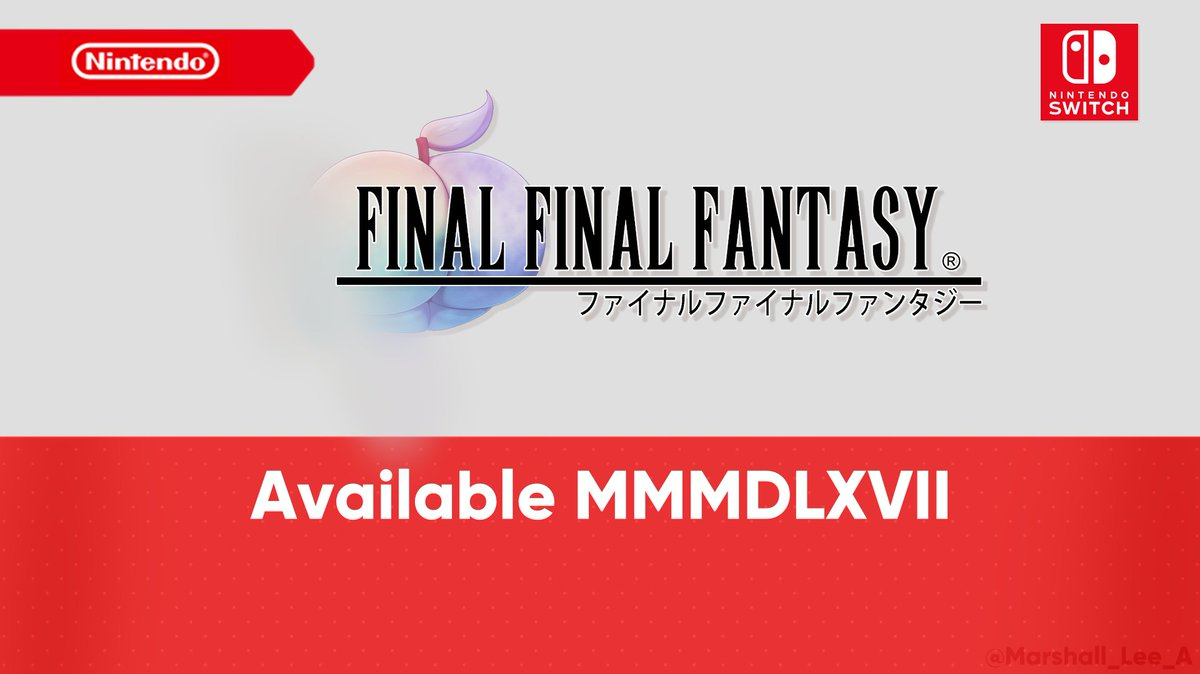 The Final Final Fantasy is here.  #FinalFantasy
