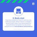 RT @dundeeuni: 6. Book a test https://t.co/s9NJFqOIvW