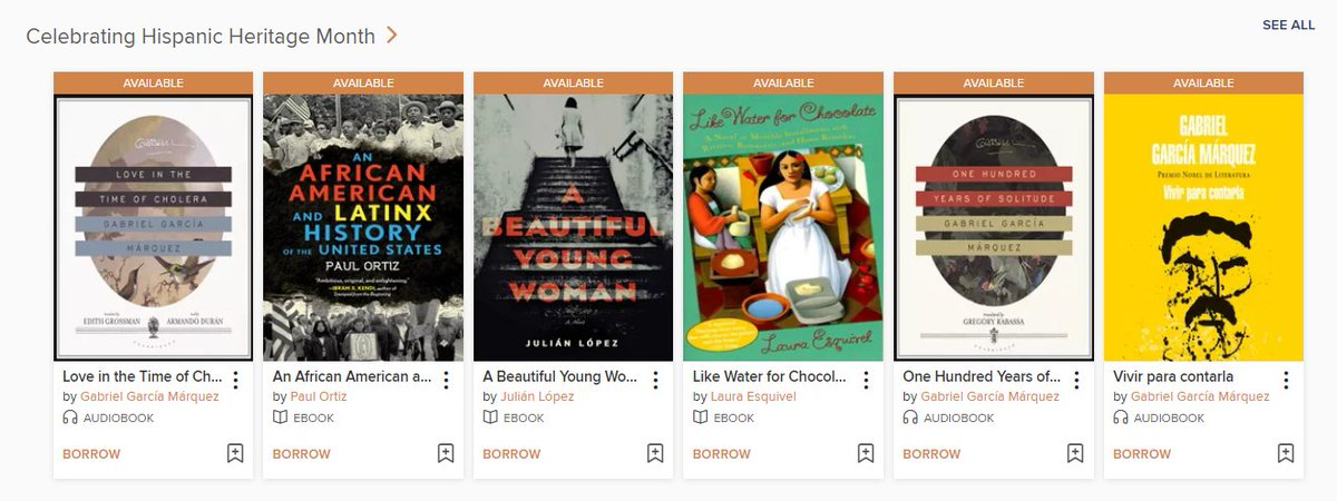 Celebrate #HispanicHeritageMonth with this curated list of ebooks & audiobooks on @eZoneRI which contains fiction & nonfiction titles from a variety of different perspectives.  Check it out here: