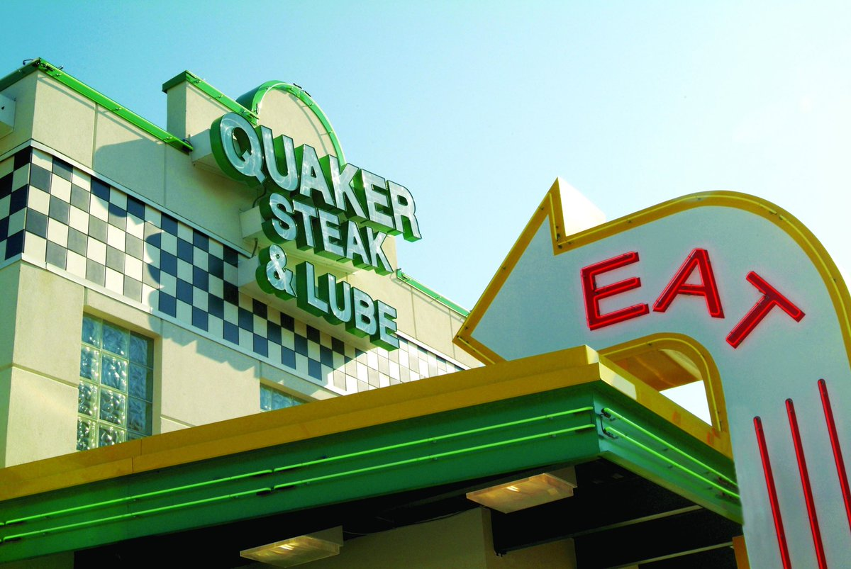 #RibbonCutting ✂️ @WhitesTravel is thrilled to present Rockbridge County's newest restaurant - Quaker Steak & Lube! In addition to the delectable steaks, wings & brews, QSL features antique race cars and motorcycles as decor. Join us on Sept 23rd at 12pm to celebrate!