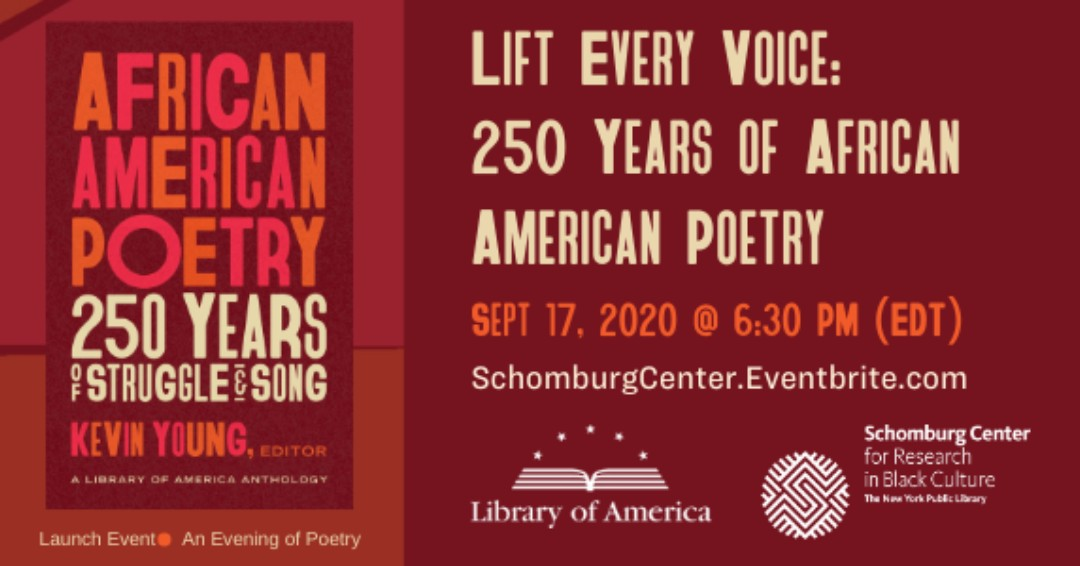 JDL is honored to receive a Lift Every Voice: Why African American Poetry Matters grant. On Sept. 17 at 6:30 PM, the Library of America will launch a nationwide humanities initiative, exploring African American poetic traditions.  To register, visit