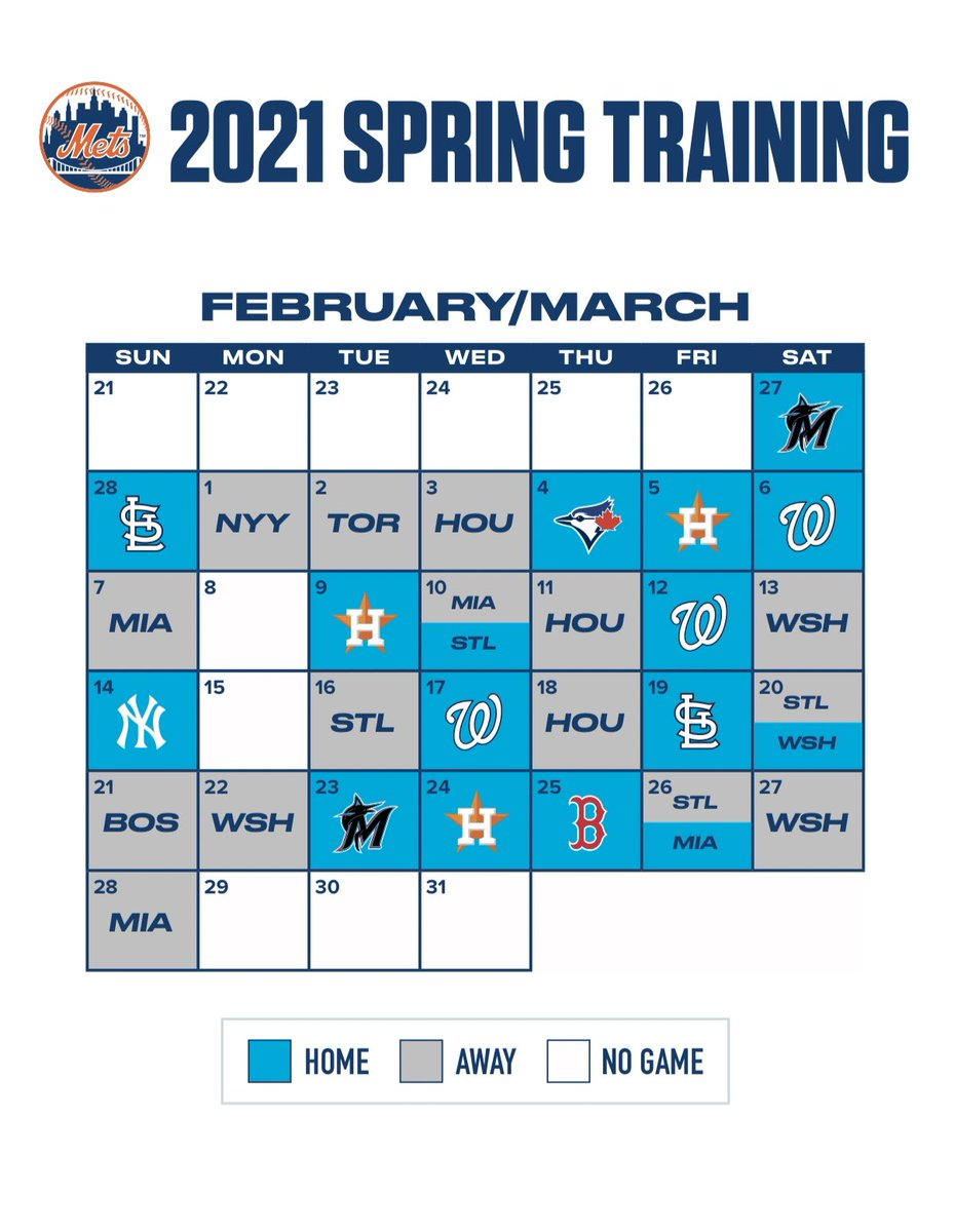 RT @stluciemets: The @Mets 2021 Spring Training schedule is here! 🙌 Who's ready?  🔗