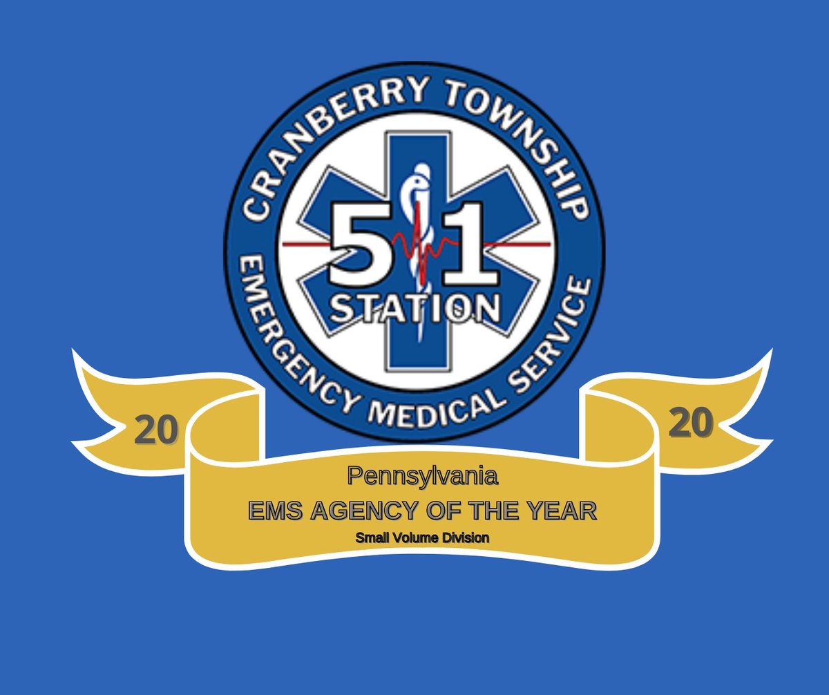 Congratulations are in order!  @CTEMS51 commitment to community service was rewarded this week as the organization received the 2020 Pennsylvania Small EMS Agency of the Year.    Read more: