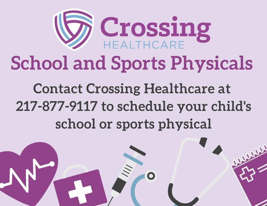 You have one month left to get required immunizations and health exams! Call Crossing Healthcare NOW to schedule your student's physical before the October 15 deadline!