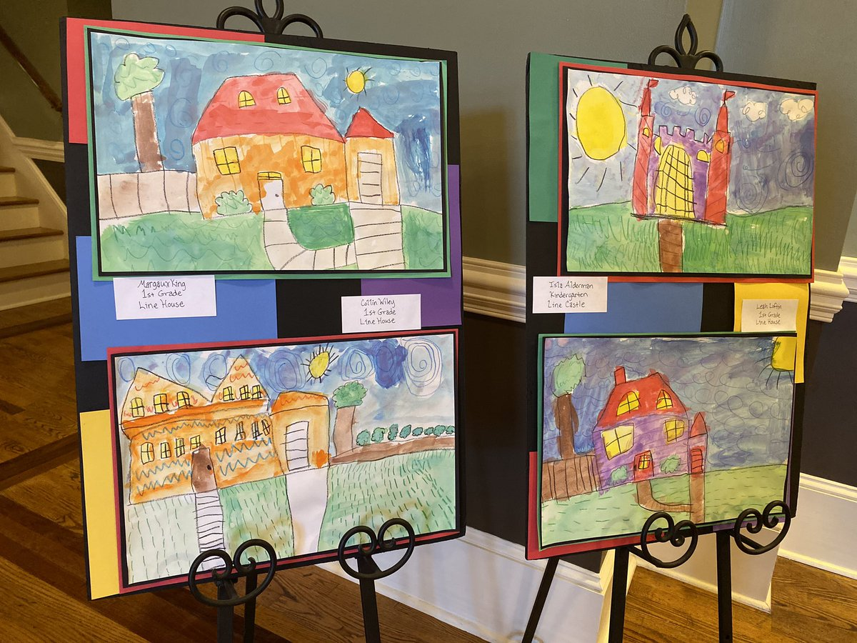 Artwork from Bonaire Primary is on display at the Board of Education office for the month of September. Each month, we feature artwork from schools throughout our district. We love seeing all of the creative work from our talented students!  Great job, @BPSBobcats