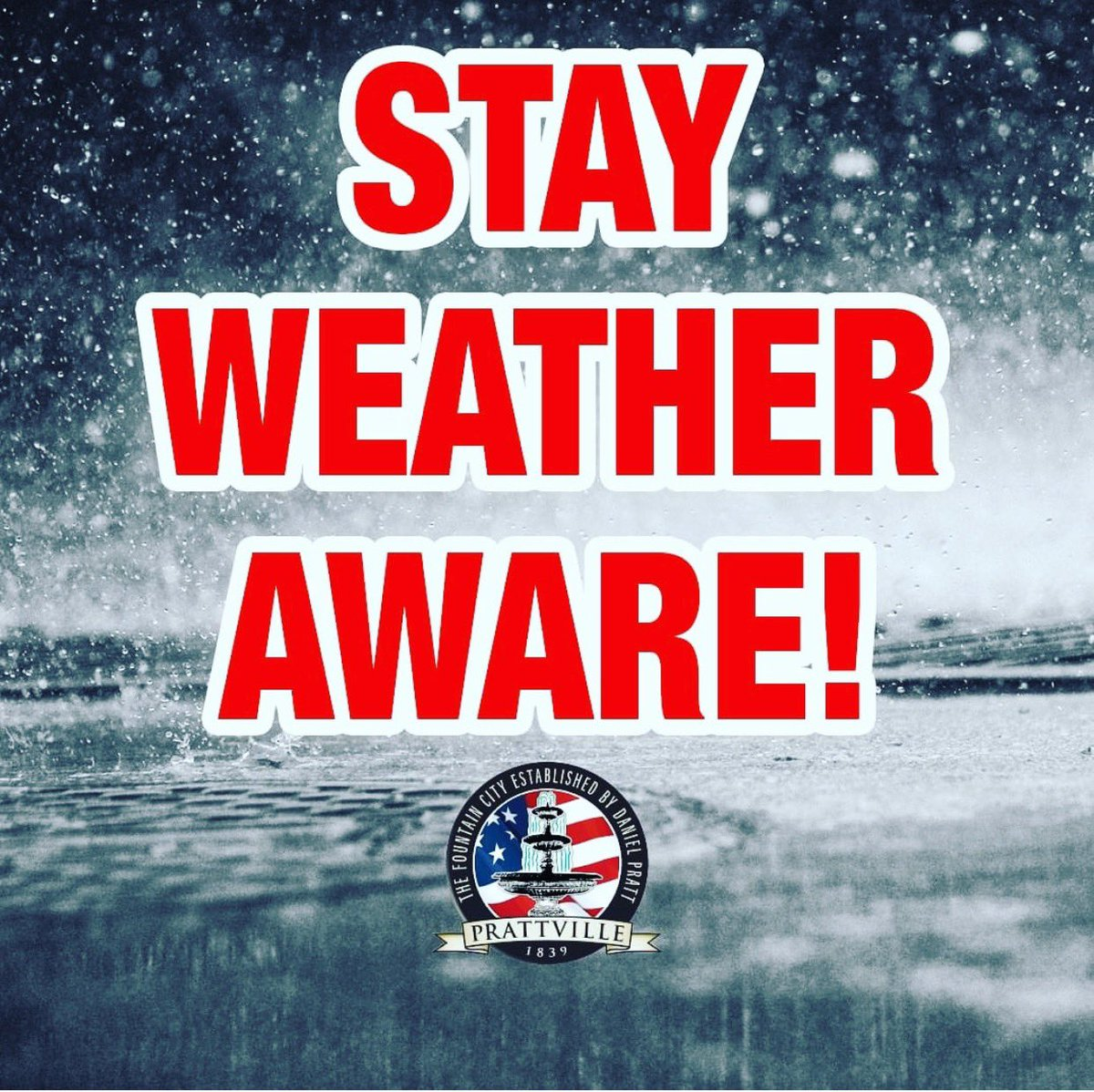 Trees and power lines are down in many areas throughout the City of Prattville. If possible, please stay off the roads for your safety and the safety of our first responders. Thank you for your cooperation. #alwx #SafetyFirst
