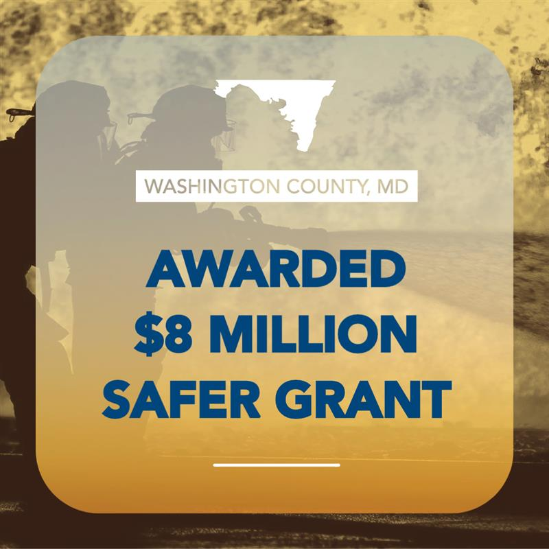 Washington County Awarded $8 Million Federal Grant to Fund 33 Additional Firefighters. To read the full release visit