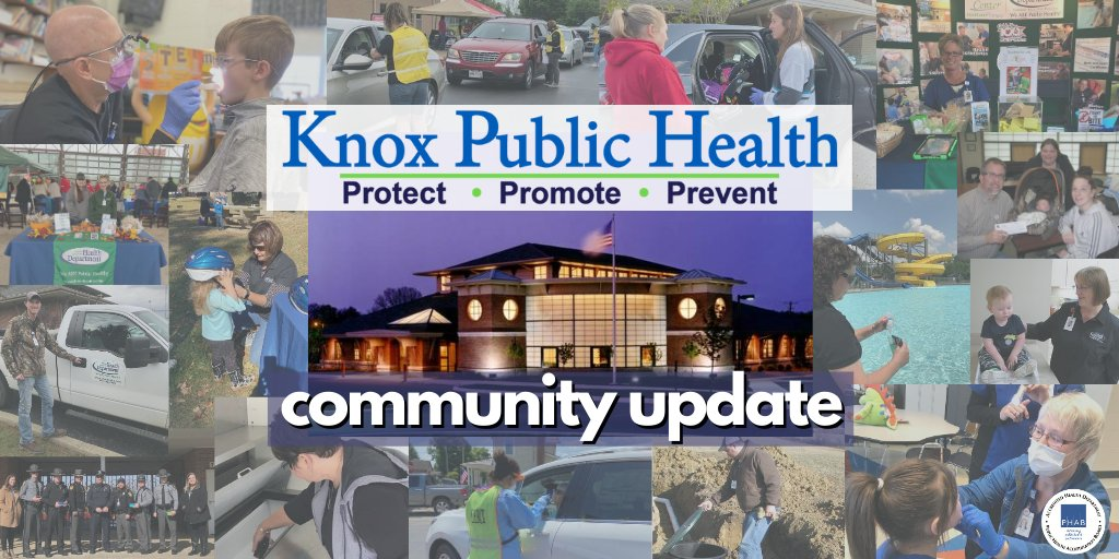 Happy Wednesday! Take a look at today's community update to learn about the upcoming drive-thru flu shot clinic, quit tobacco program, and a podcast featuring our Accreditation Coordinator, speaking with Mayor Starr about Knox County census data. Link: