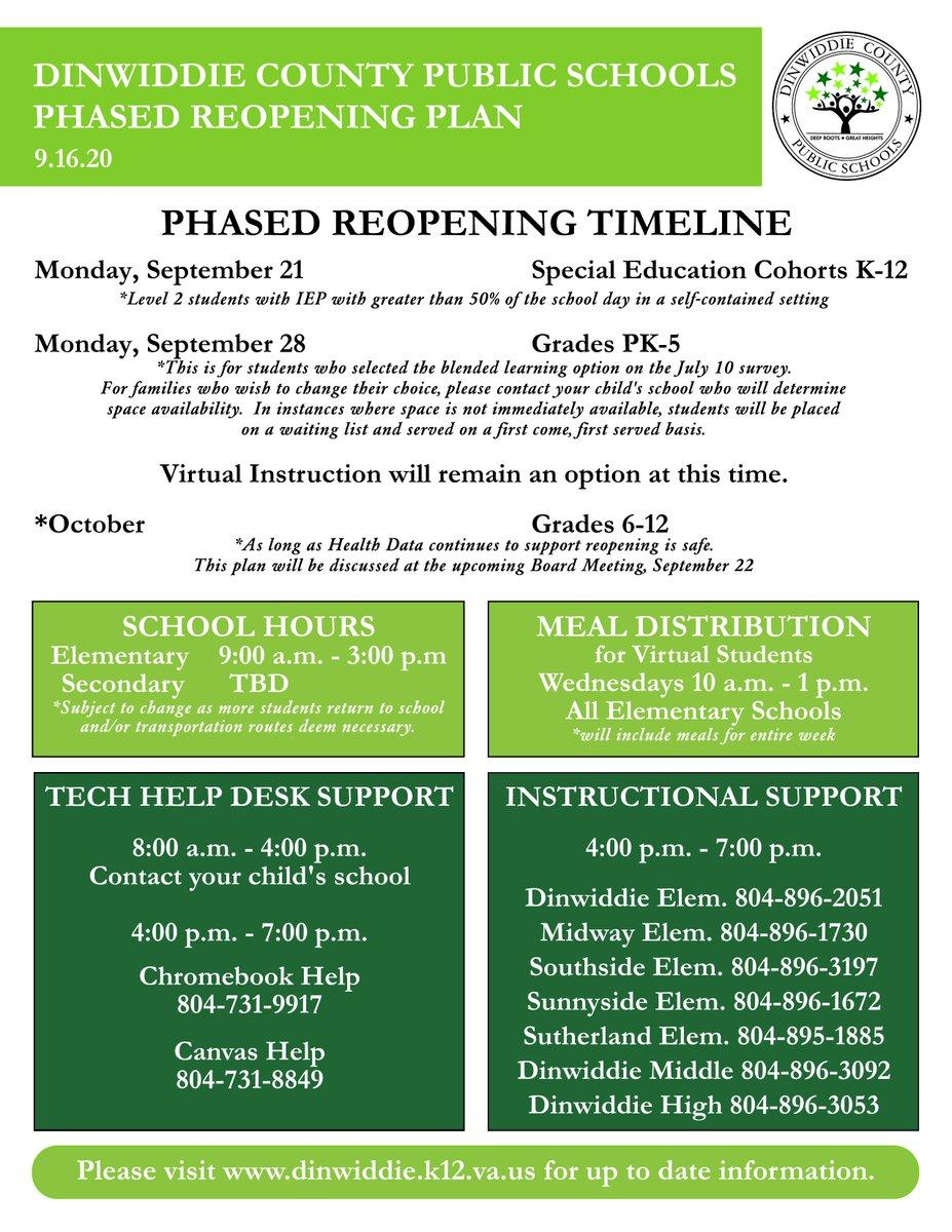 DCPS School Reopening Update