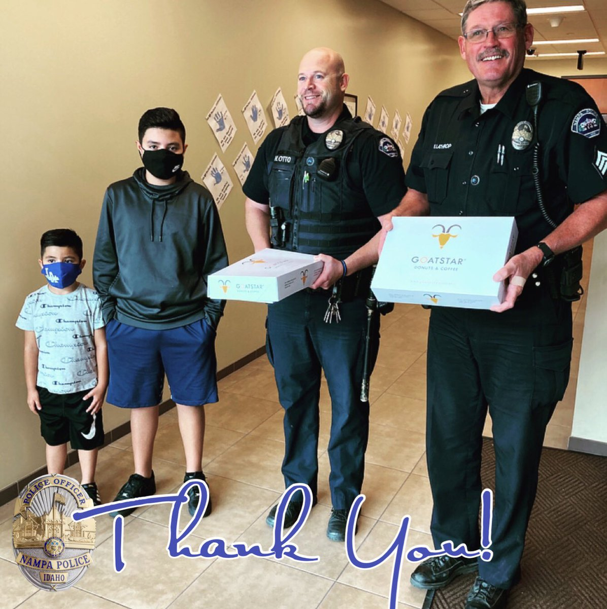 Andres and Angelo stopped by with Goatstar DONUTS for us.  How'd they know... We ❤️ 🍩??? Thanks guys (and mom!!). We enjoyed our visit and we loved the delicious treats.  #DonutMindIfIDo #DonutBeJelly #DonutJudgeMe  #ThankYou