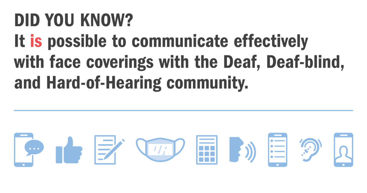 DYK? You can use speech-to-text on your phone to communicate with people who are Deaf, Deaf-Blind, and Hard-of-Hearing. It's easy, and its already in your pocket. Check out more tips here. Together we can #CrushCovidRI. @RICDHH