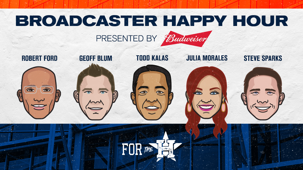 Join @RealToddKalas, @FRomeroAstros, and @enoliparedes!   Our final Broadcaster Happy Hour, presented by @budweiserusa is available now!   #ForTheH