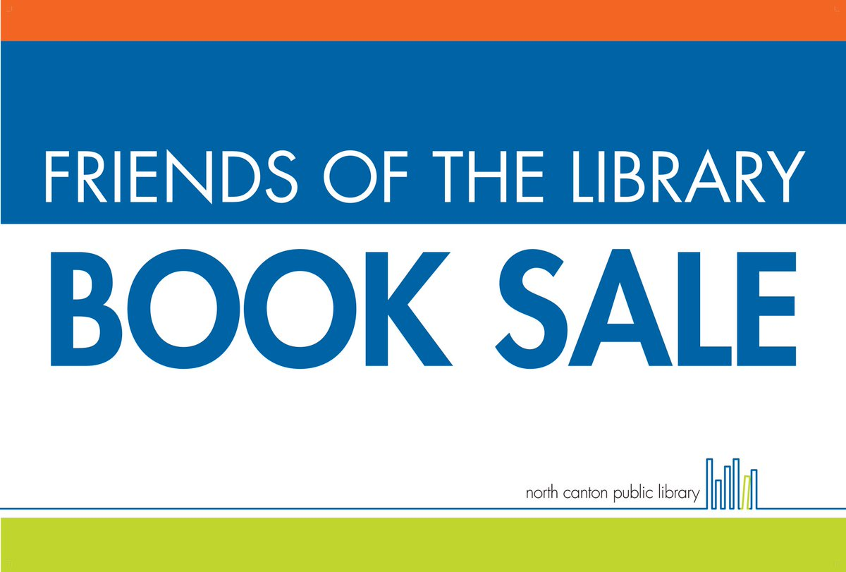 The Friends of the Library are going to have a book sale at the North Canton Farmers Market on Wednesday, September 23 from 3-7 pm. Check out the Facebook Event for more details.