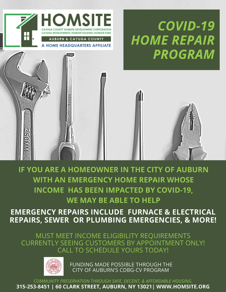 The COVID-19 Home Repair Program is available to City homeowners financially impacted by the COVID-19 pandemic...