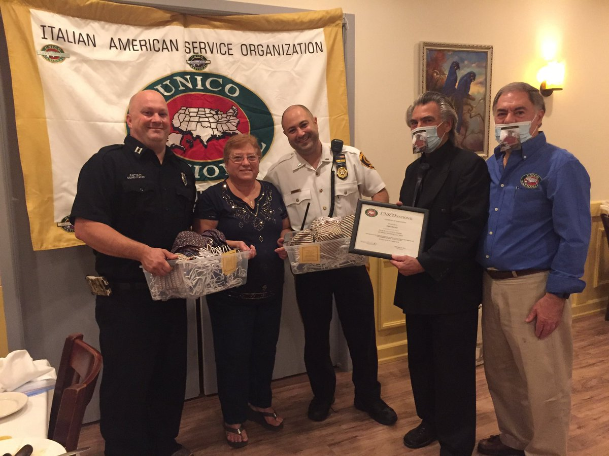 A special thank you to Hackensack resident Elide Marino for making masks for each officer in the PD and each member of HFD. In addition, she was honored by Hackensack Chapter of UNICO National for making and donating over 2,000 masks to various organizations!