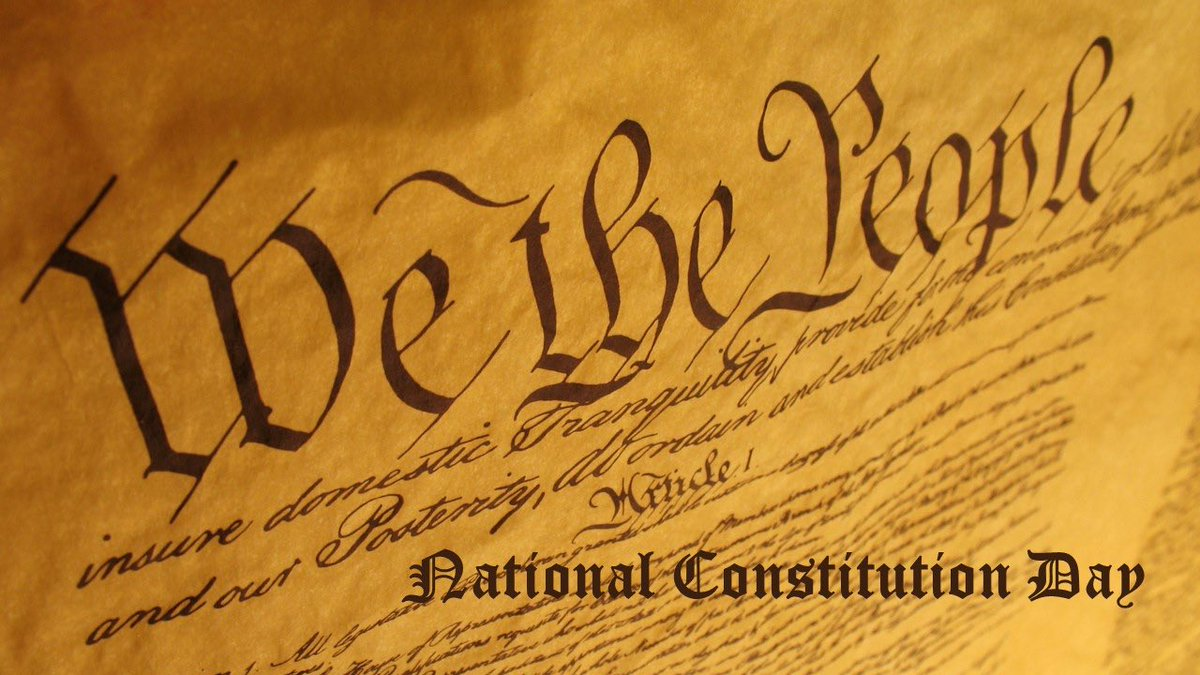 Happy #ConstitutionDay! On this day in 1787, the Constitution was signed in Philadelphia. Today we celebrate our rights as Americans and recognize this nation's great history and values.