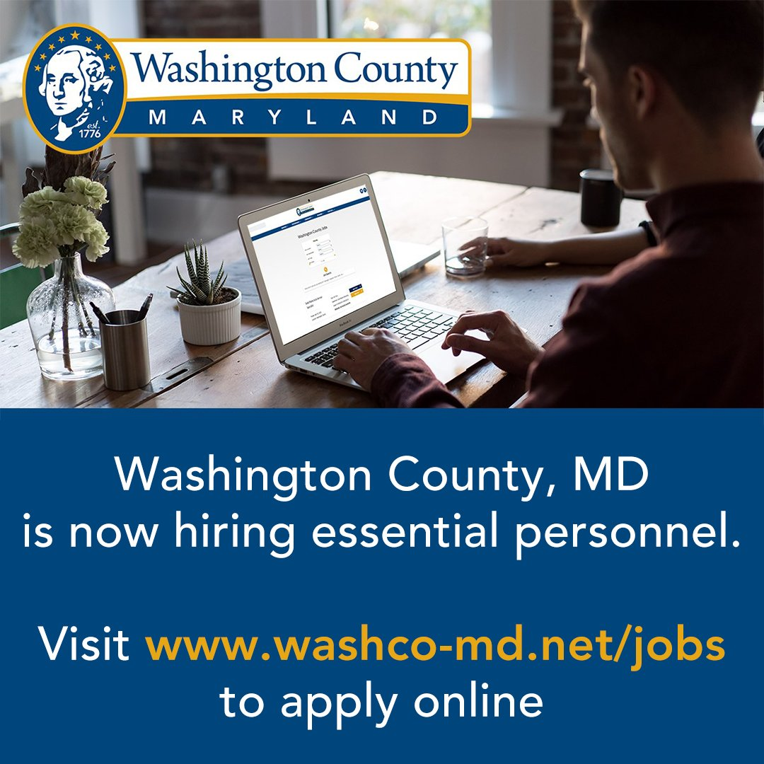 Washington County is now hiring for Essential Personnel.  New Positions posted:  • State Attorney's Office – Senior Office Associate   Apply online at:
