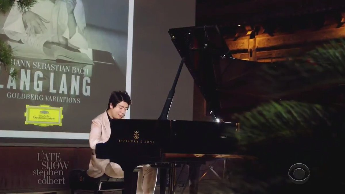"""Watch the masterful pianist @lang_lang perform material from his new album """"Goldberg Variations"""" on A Late Show! #LSSC"""