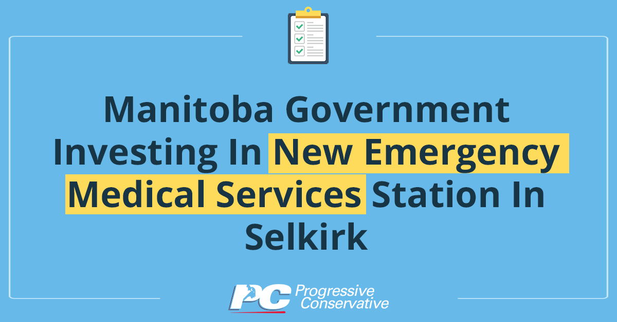 test Twitter Media - Our PC government is committed to ensuring high-quality emergency medical services are available to residents throughout our province.   Details here: https://t.co/I4jMjE6unh   #mbpoli #MovingManitobaForward https://t.co/O6UAFnrER6
