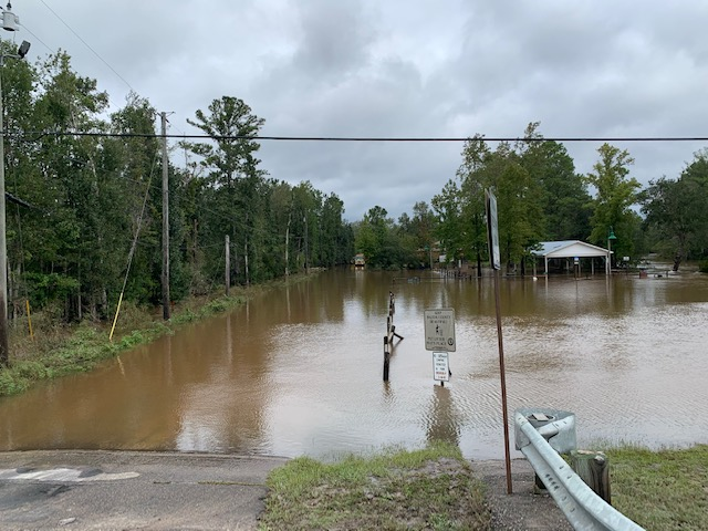 Flooding at Alaqua Park in Freeport.   We want to remind everyone to stay out of floodwaters to avoid getting sick or bitten by snakes and insects.   If you do come in contact with floodwaters, make sure you wash and rinse exposed body parts thoroughly.   #HurricaneSally