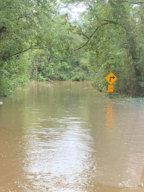 More photos from our crews from across the county today.   Extensive flooding on Laird Road in Mossy Head.  Please DO NOT try to drive through floodwaters.