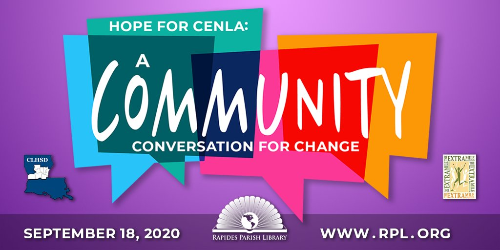 Tommorrow! Hear from Dan Schneider, The Pharamacist, Miss America and more commuity leaders during this virtual summit. Zoom meeting link information:  Passcode: RPL2020