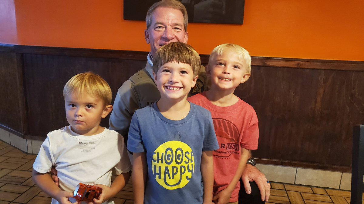 Remember the child that was bitten by a rattlesnake earlier this year? That's him in the red shirt! We're happy to share he (and his brothers) are doing well!
